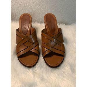 Cole Haan Brown Slip On Heel Sandal